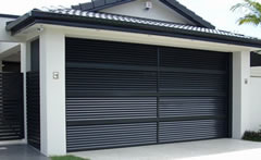 Custom-Made Black Roller Door